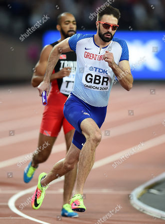 Martyn Rooney of Great Britain in action
