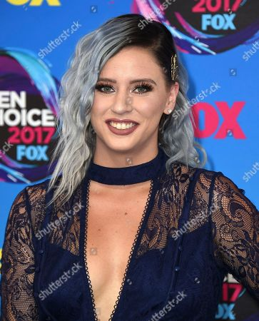 Lily Marston arrives at the Teen Choice Awards at the Galen Center, in Los Angeles