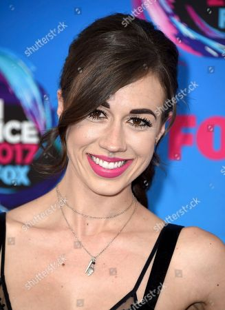 Colleen Ballinger arrives at the Teen Choice Awards at the Galen Center, in Los Angeles