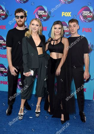 Zara Larsson, Jack Patterson, Grace Chatto, Luke Patterson Zara Larsson, third right, and from left Jack Patterson, Grace Chatto, and Luke Patterson arrives at the Teen Choice Awards at the Galen Center, in Los Angeles