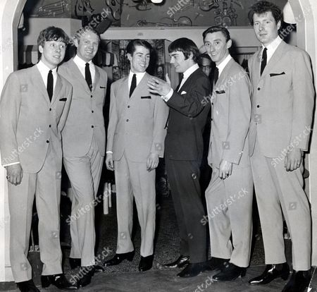 Jimmy Nicol and The Shubdubs - L to R:  Bob Garner, Quincy Davis, Tony Allen, Jimmy Nicol, Johnny Harris and Roger Coulan