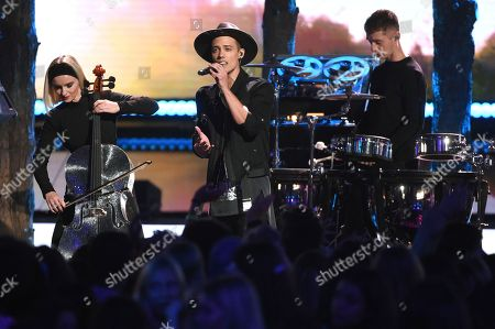 Leroy Sanchez performs at the Teen Choice Awards at the Galen Center, in Los Angeles