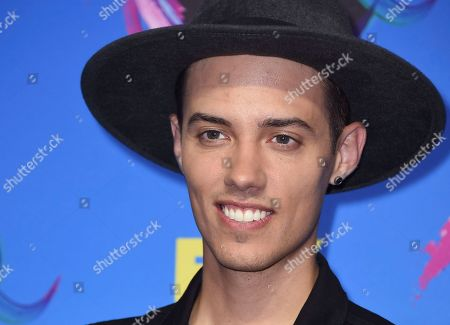 Leroy Sanchez poses in the press room at the Teen Choice Awards at the Galen Center, in Los Angeles