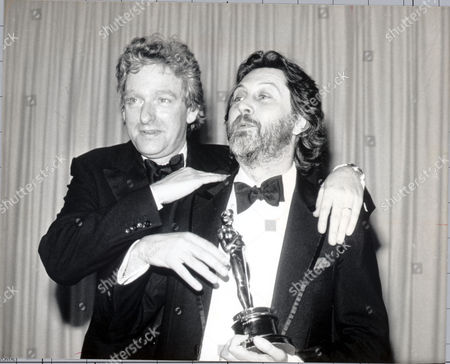 Hugh Hudson And Baron Puttnam Of Queensgate (life Peerage) (david Puttnam) With Their Oscar For Chariots Of Fire.