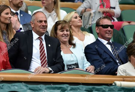 Steve Redgrave Wimbledon 2016 Tennis Championships Wimbledon London  Steve Redgrave And Matthew Pinsent In The Royal Box On Centre Court Watching The Action.