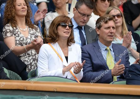 Darcy Bussell Wimbledon 2016 Tennis Championships Wimbledon London Day Eight 5th July 2016 Simona Halep V Anqelique Kerber Darcy Bussell In The Royal Box.