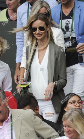 Ester Satorova.  Wimbledon 2016 Tennis Championships Wimbledon 8th July 2016 Day Eleven Andy Murray V Tomas Berdych Ester Satorova Walks Into Players Box .