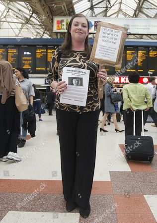 Emma Green 26 From Arundel Quit Her Job In London After Delays Of Up To 4hrs To Get Home: Commuters Strike In Victoria Station After Their Trains Are Constantly Delayed On The Southern Network. 2016/07/11 Picture By Georgie Gillard.