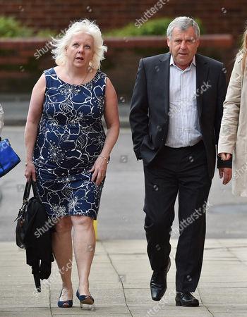 Sadie Hartley Murder Trial At Preston Crown Court Preston Lancs. Julie Taylor Business Partner Of Sadie Hartley And Hartley's Brother Graham Cook Arrive At Court.