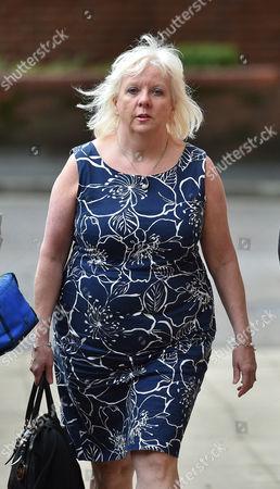 Sadie Hartley Murder Trial At Preston Crown Court Preston Lancs. Julie Taylor The Best Friend And Business Partner Of Sadie Hartley Arrives At Court.