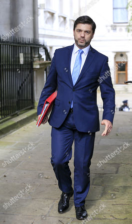 Stephen Crabb Attending The Last Cabinet Meeting In Downing Street Before The Change Over Of Prime Minister.