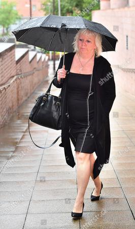 Sadie Hartley Murder Trial At Preston Crown Court Preston Lancs. Julie Taylor The Best Friend And Business Partner Of Sadie Hartley Arrives At Court.  11/7/16.