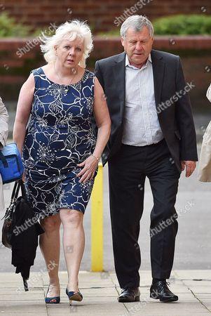 Editorial photo of Sadie Hartley Murder Trial At Preston Crown Court Preston Lancs. Julie Taylor Business Partner Of Sadie Hartley And Hartley's Brother Graham Cook Arrive At Court.