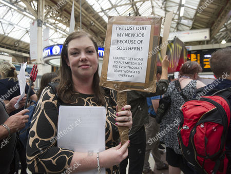 Editorial photo of Emma Green 26 From Arundel Quit Her Job In London After Delays Of Up To 4hrs To Get Home. Commuters Strike In Victoria Station After Their Trains Are Constantly Delayed On The Southern Network.