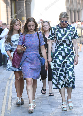 Lady Helen Windsor And Family (including Lady Amelia Windsor) Arrive At Draper's Hall City Of London For A Private Reception Hosted By The Monarch For Friends And Family Ahead Of Her Departure To Balmoral Later This Week.