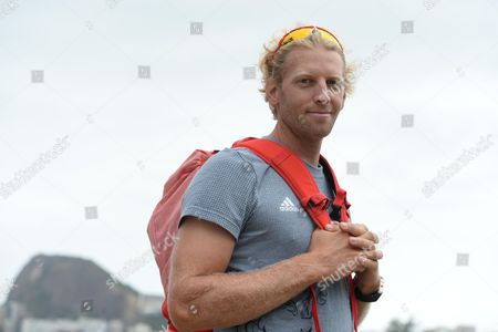 Andy Triggs-hodge Of The Gb Rowing Team At Their Venue In Laguna Rio Olympics Brazil. Olympics Feature.