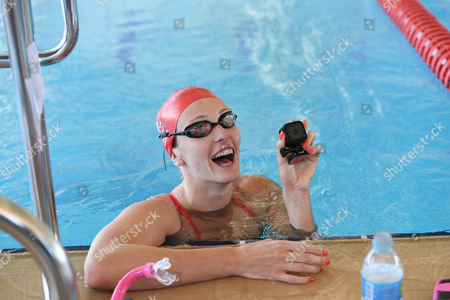 Swimmer Fran Halsall Plays With A Camera. Behind The Scenes Access To The Team Gb Prep Camp In Belo Horizonte Brazil.Olympics Feature.