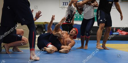 Ashley Mckenzie. Gb Judo Train In Belo Horizonte. For The Rio Olympics Brazil. Olympics Feature.