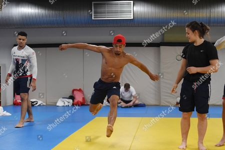 Ashley Mckenzie. Gb Judo Train In Belo Horizonte. For The Rio Olympics Brazil.Olympics Feature.