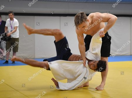 Ashley Mckenzie Gets Thrown. Gb Judo Train In Belo Horizonte. For The Rio Olympics Brazil.Olympics Feature.