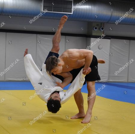 Ashley Mckenzie Gets Thrown. Olympics Feature Gb Judo Train In Belo Horizonte. For The Rio Olympics Brazil.