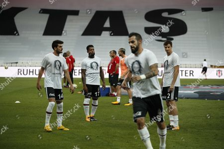 Besiktas players Fatih Aksoy, Jeremain Lens, Alvaro Negredo and Matej Mitrovic train