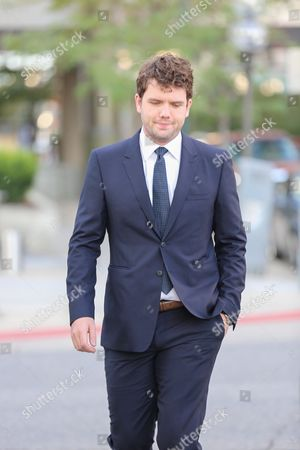 Austin Swift, Taylor Swifts brother, enters court for closing statements Swift v Mueller a civil trial in federal court