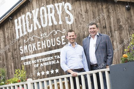Co-owners John Welsh (left) and Neil McDonnell at the site of the redesigned restaurant.