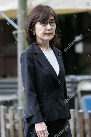 Former Japanese Defense Minister Tomomi Inada visits Yasukuni Shrine to pay her respects to the war dead on the 72nd anniversary of Japan's surrender in World War II