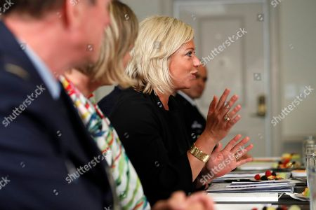 Dutch Defense Minister Jeanine Hennis-Plasschaert speaks before a meeting with Defense Secretary Jim Mattis at the Pentagon