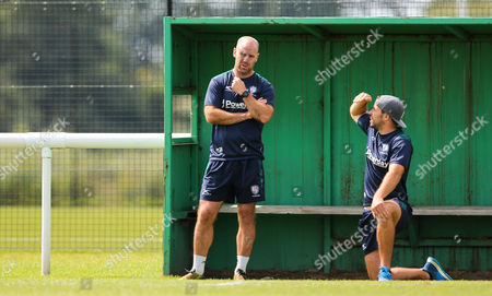 Charlie Hodgson, coach of London Irish during the London Irish training at Hazelwood Stadium - August 14th 2017 in Middlesex, England.