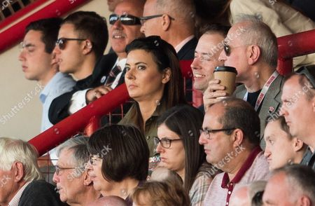 Stock Picture of Brentford fan Sky Sports News presenter Natalie Sawyer in the stand