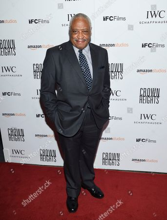 "Stock Image of Ron Canada attends the premiere of Amazon Studios' and IFC Films', ""Crown Heights"", at Metrograph, in New York"