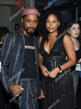 Lakeith Stanfield, Natalie Paul Actors Lakeith Stanfield, left, and Natalie Paul attend the premiere of Amazon Studios' and IFC Films', 'Crown Heights', at Metrograph, in New York
