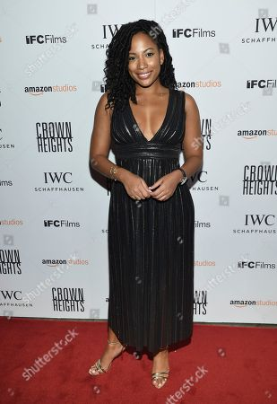 Actress Natalie Paul attends the premiere of Amazon Studios' and IFC Films', 'Crown Heights', at Metrograph, in New York