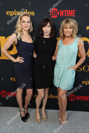 Mircea Monroe, Andrea Rosen and Kathleen Rose Perkins at SHOWTIME's celebration of the fifth and final season of the award winning comedy EPISODES, West Hollywood, CA, America - 15 August 2017