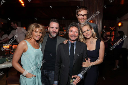 Stock Photo of Kathleen Rose Perkins, Christopher Moynihan, Jeffrey Klarik, Executive Producer, Stephen Merchant and Mircea Monroe at SHOWTIME's celebration of the fifth and final season of the award winning comedy EPISODES, West Hollywood, CA, America - 15 August 2017