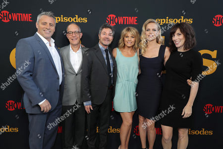 Matt LeBlanc, David Crane, Executive Producer, Jeffrey Klarik, Executive Producer, Kathleen Rose Perkins, Mircea Monroe and Andrea Rosen at SHOWTIME's celebration of the fifth and final season of the award winning comedy EPISODES, West Hollywood, CA, America - 15 August 2017