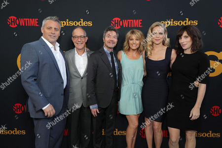 Stock Photo of Matt LeBlanc, David Crane, Executive Producer, Jeffrey Klarik, Executive Producer, Kathleen Rose Perkins, Mircea Monroe and Andrea Rosen at SHOWTIME's celebration of the fifth and final season of the award winning comedy EPISODES, West Hollywood, CA, America - 15 August 2017