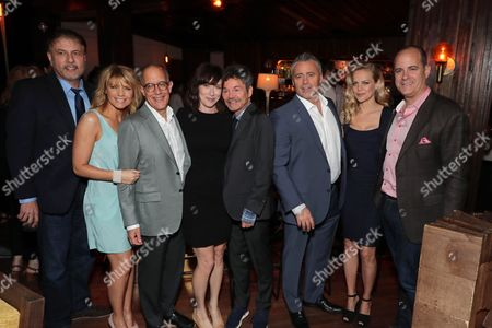 Gary Levine, President of Programming for Showtime Networks, Kathleen Rose Perkins, David Crane, Executive Producer, Andrea Rosen, Jeffrey Klarik, Executive Producer, Matt LeBlanc, and David Nevins, President and CEO of Showtime Networks, at SHOWTIME's celebration of the fifth and final season of the award winning comedy EPISODES, West Hollywood, CA, America - 15 August 2017