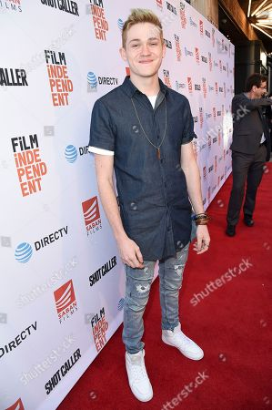 "Jonathon McClendon attends a special screening of ""Shot Caller"" at the Ace Hotel, in Los Angeles"