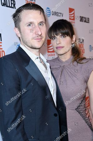 "Scott Campbell, Lake Bell Scott Campbell, left, and Lake Bell attend a special screening of ""Shot Caller"" at the Ace Hotel, in Los Angeles"