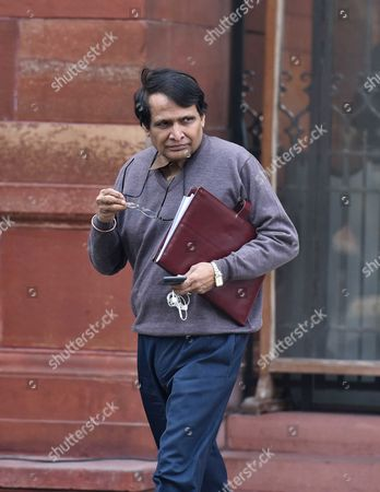 NEW DELHI, INDIA - DECEMBER 28: Railway Minister Suresh Prabhu coming out after attending the Cabinet Meeting at South block , on December 28, 2016 in New Delhi, India. In a meeting chaired by Prime Minister Narendra Modi, Cabinet approved an ordinance to term as illegal the possession of demonetised Rs 500 and Rs 1,000 notes beyond 31 March 2017, and hold as criminal offence people contravening its provisions.
