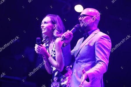 Stock Photo of Keltie Knight and Cris Judd