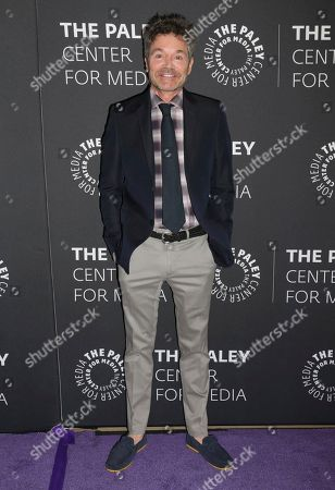 """Creator/executive producer Jeffrey Klarik arrives at a premiere for the final season of """"Episodes"""" at The Paley Center for Media, in Beverly Hills, Calif"""