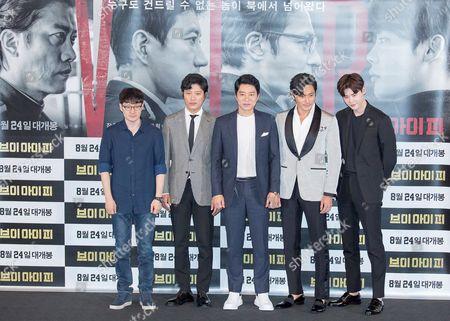 Park Hoon-jung, actors Hee-soon Park, Kim Myung-min, Jang Dong-gun and Lee Jong-suk