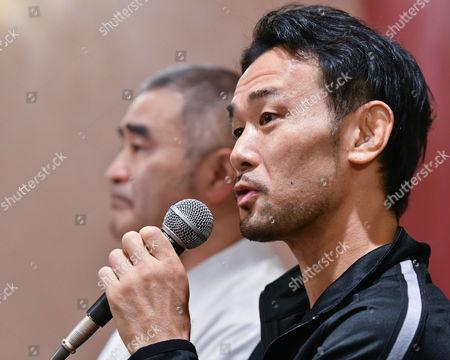 (R-L) Shinsuke Yamanaka, Tsuyoshi Hamada