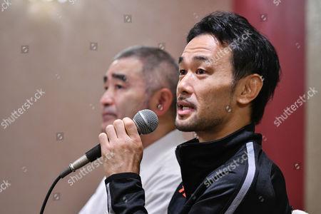 Stock Image of (R-L) Shinsuke Yamanaka, Tsuyoshi Hamada