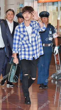 Editorial image of Jae-Joong Kim at Tokyo Haneda Airport, Japan - 12 Aug 2017