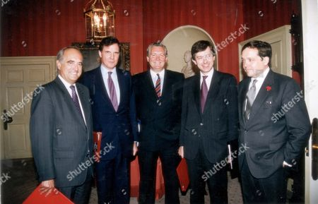 Cabinet Meeting L-r) Brain Mawhinney Jonathan Aitken Jeremy Hanley Stephen Dorrell And Robert Gascoyne-cecil 7th Marquess Of Salisbury (viscount Cranborne) Pkt3875-291981.